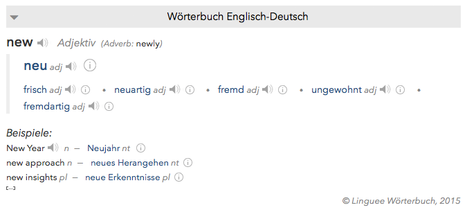 from now on the new dictionaries will display simple search terms above the example sentences we are constantly working on enhancing the dictionaries - Simple Past Beispiele